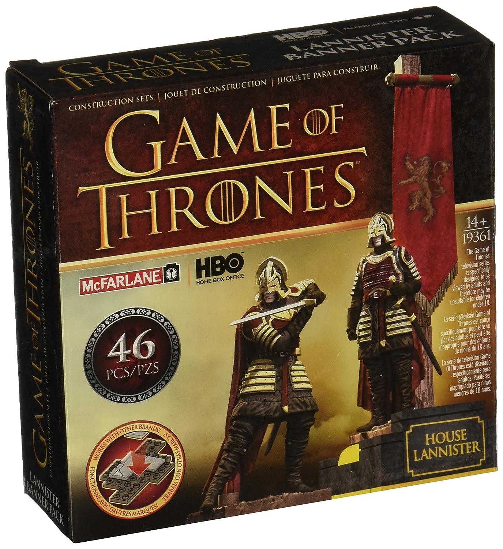 Game of Thrones Lot de Bannière Lannister Jeu de Construction (Marron/Rouge) Mc Farlane 19361-9