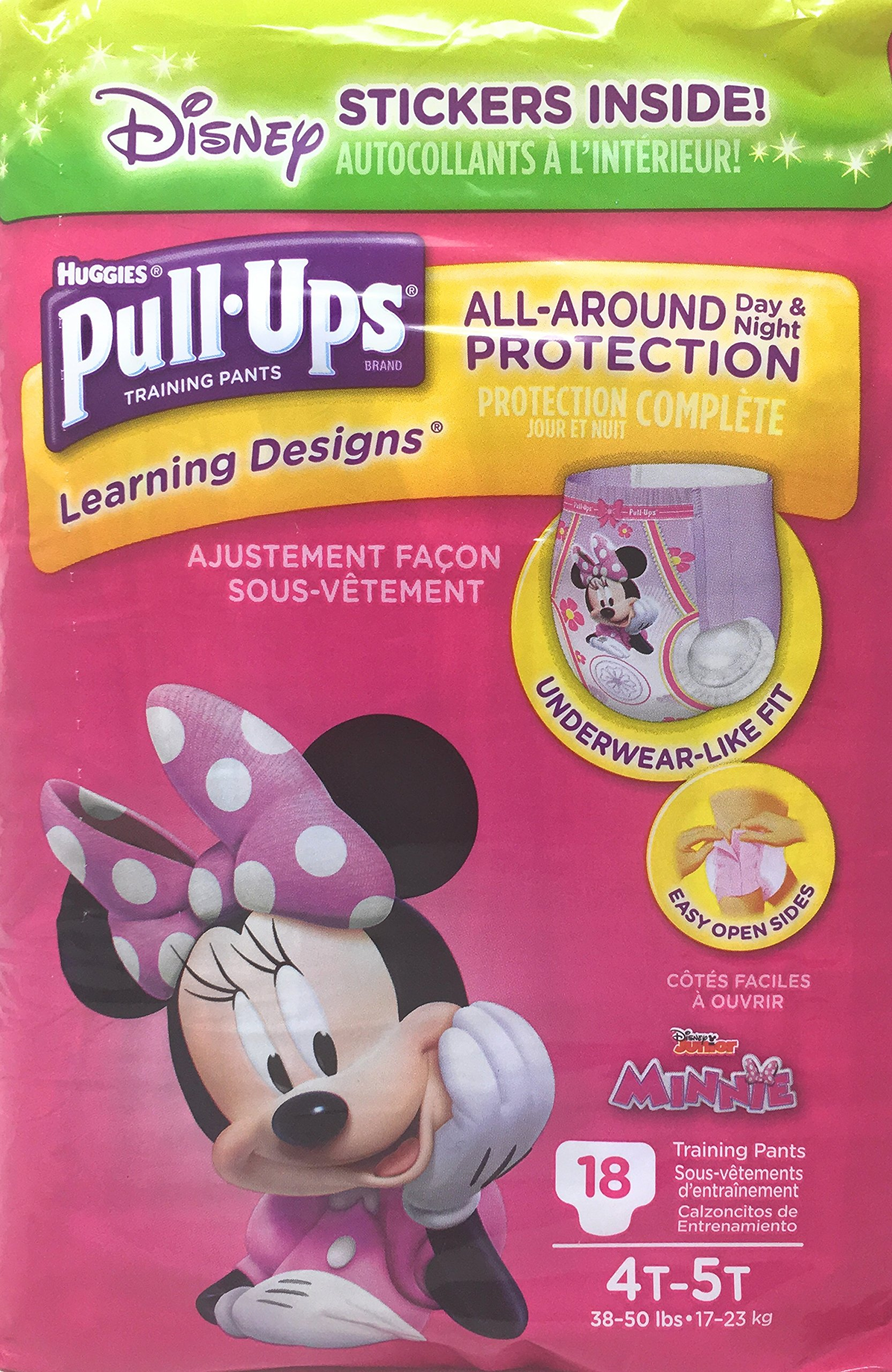 Pull-Ups Learning Designs Potty Training Pants for Girls, 4T-5T (38-50 lb.), 18 Count (Packaging May Vary)