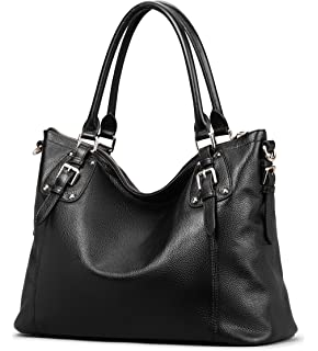Obosoyo Women s Handbag Genuine Leather Tote Shoulder Bags Soft Hot Purse e614b3fb59acf