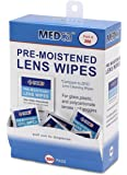 MEDca Lens Cleaning Wipes Towelette Dispenser Pre-Moistened (200)