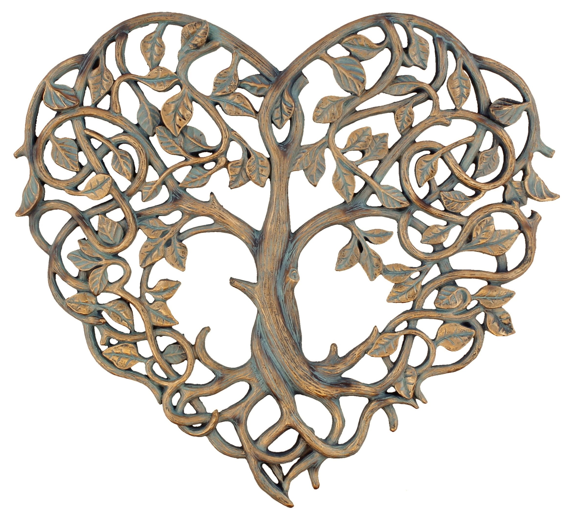 Old River Outdoors Tree of Life/Heart Wall Plaque 12'' Decorative Art Sculpture - I Love You Decor by Old River Outdoors