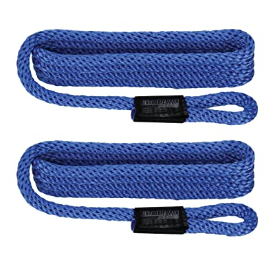 "Extreme Max 3006.2159 BoatTector Solid Braid MFP Fender Line - 3/8"" x 5', Blue: Automotive"