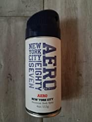 Aeropostale Aero New York City Eight Seven 87 Deodorant Body Spray 4 Ounce Retired Fragrance For