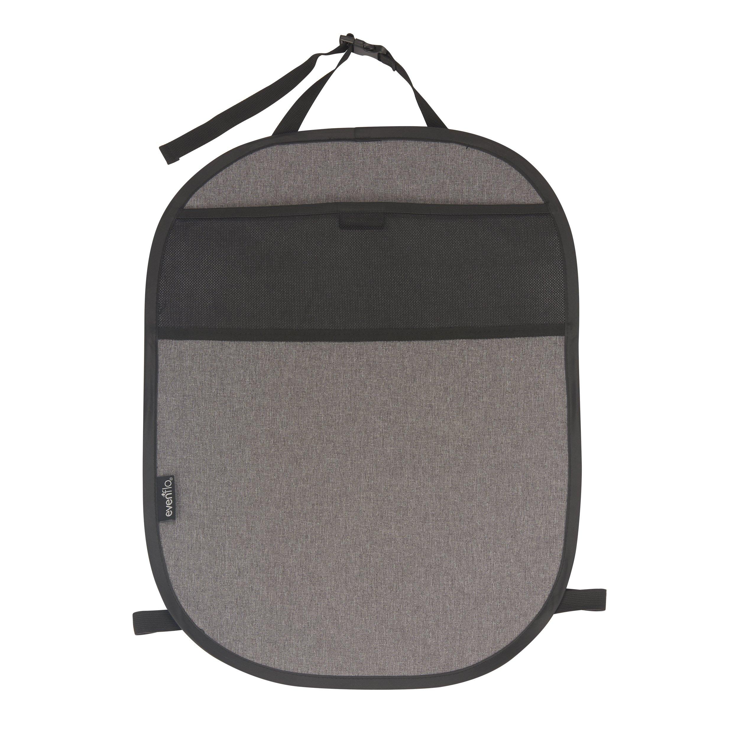 Evenflo Car Seat Kick Mat With Storage Pocket Black