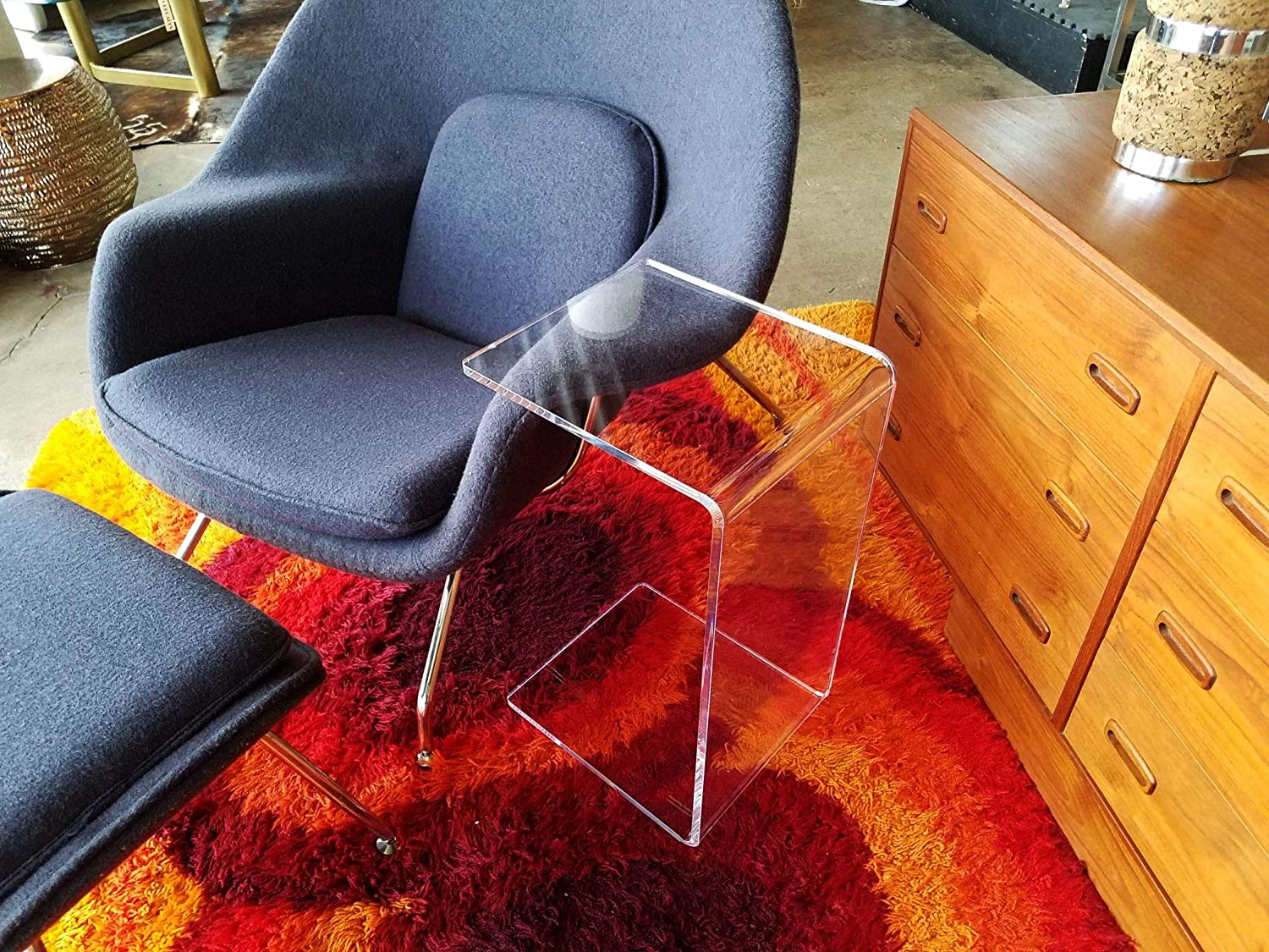 "Clear Acrylic Occasional Table 23"" high Under Couch, Laptop Stand"