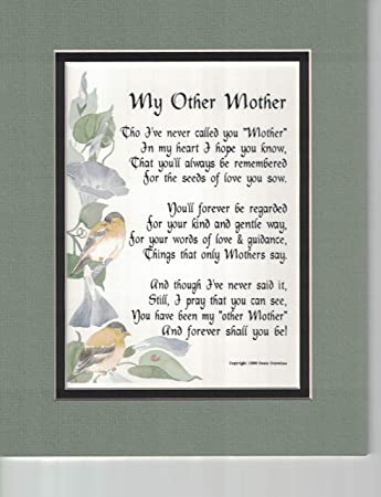 Amazoncom Genies Poems My Other Mother A Poem Birthday Present