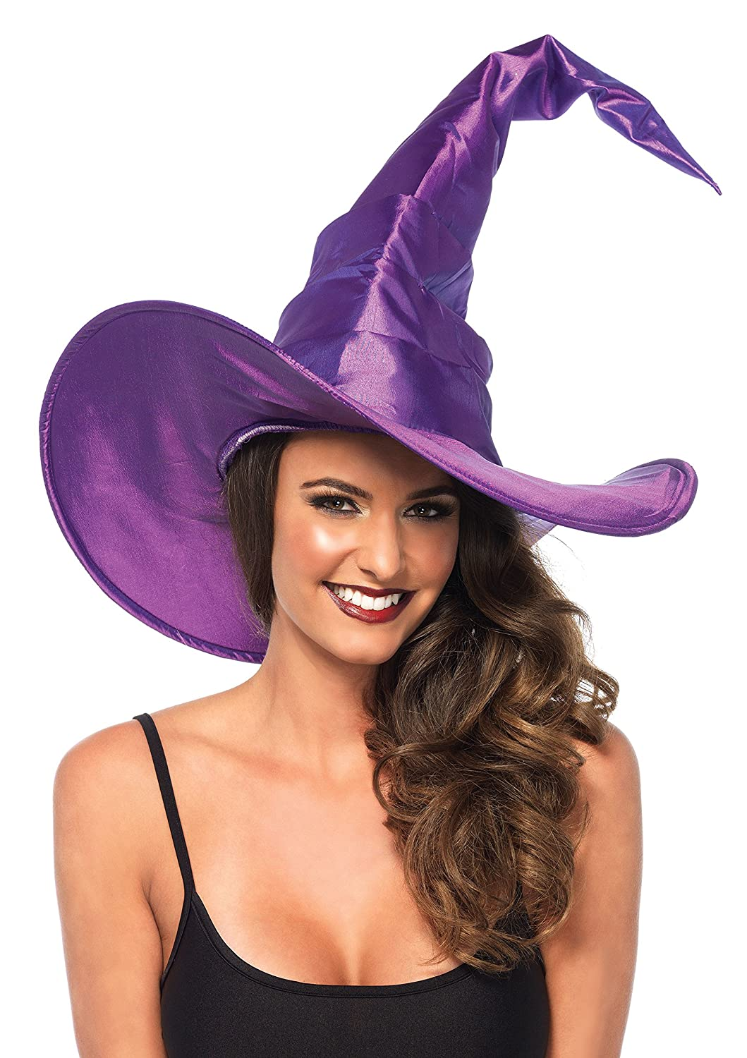Amazon.com: Leg Avenue Women's Large Ruched Witch Hat, Black, One ...