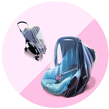 and Wasps no Harmful Chemicals Fanxis 150cm Full Cover Baby Stroller Mosquito Net Baby Carriages Protection Mesh No-See-Ums Ultra Fine Mesh Protection Against Mosquitos
