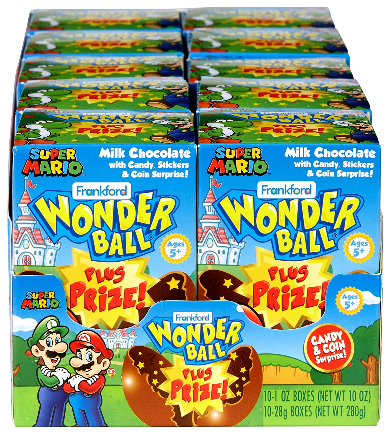 Amazon Com Frankford Candy Company Wonder Ball With Toy Mario