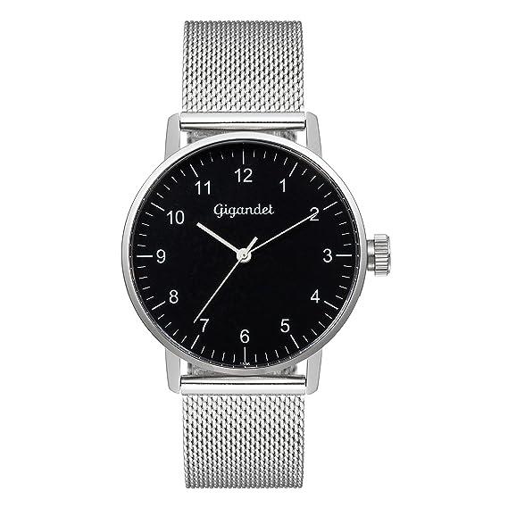 Gigandet Minimalism Reloj Mujer Analógico Quartz Plata Negro G27-006: Gigandet: Amazon.es: Relojes