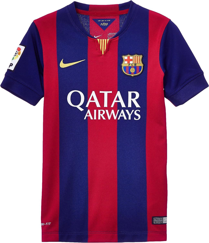 NIKE 2014/15 FC Barcelona Stadium Home - Camiseta/Camisa Deportiva para Hombre, Color Azul, Talla XL: Amazon.es: Deportes y aire libre
