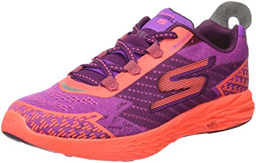 17d4f5eea8f2 Skechers Women s GOrun 5 Nite Owl Running Shoe Purple Hot Pink Size ...