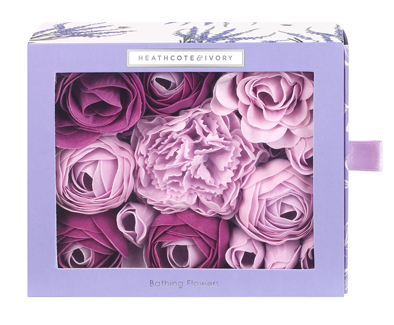 Heathcote & Ivory Wild English Lavender Bathing Flowers in Sliding Box 85 g FG4540