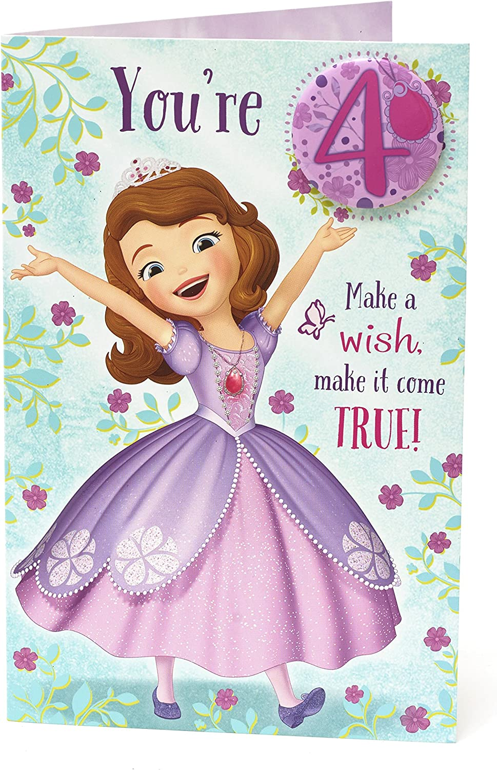 Amazon Com Girl 4th Sofia The First Age 4 With Badge Happy