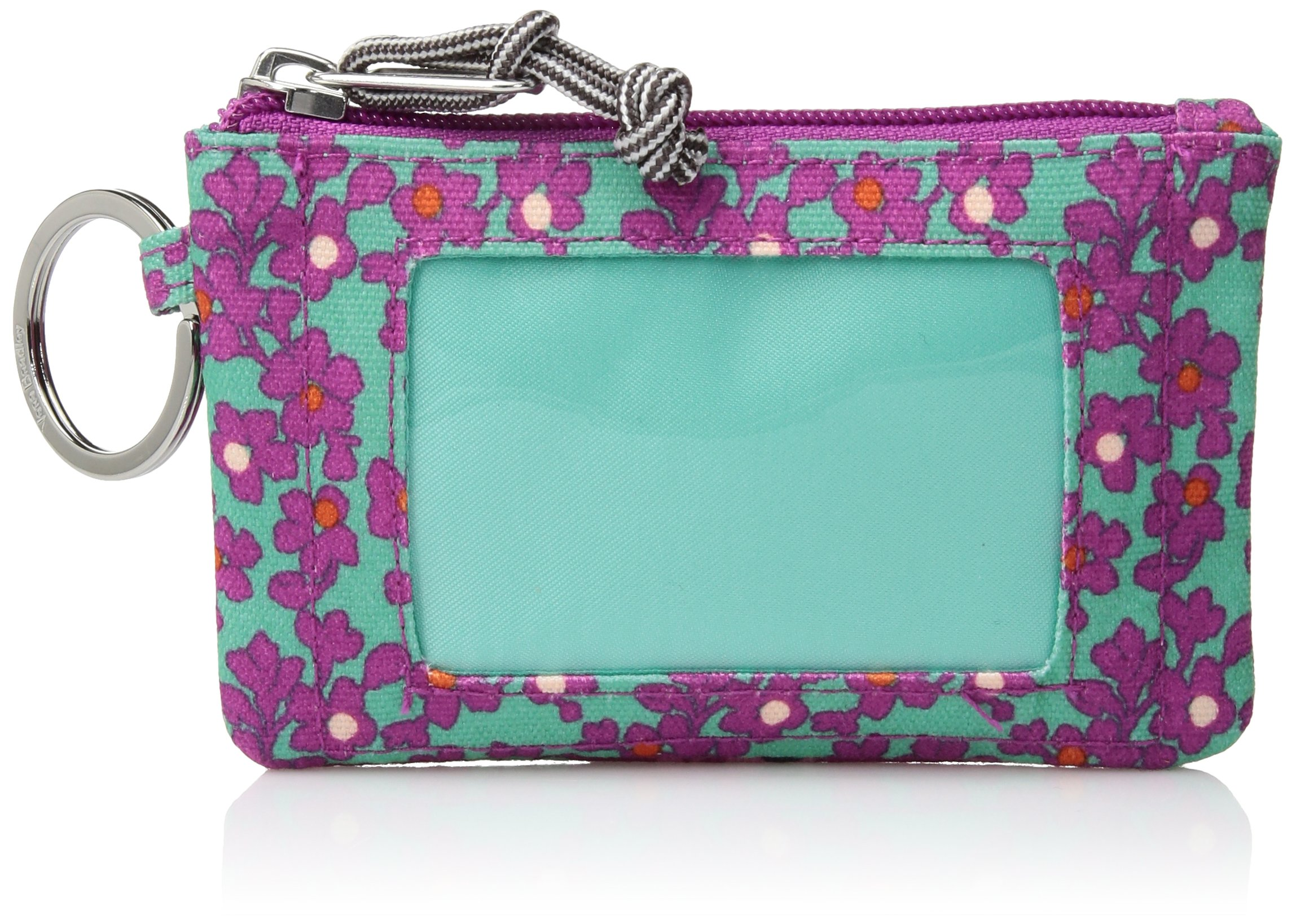Lighten Up Printed Dot Zip Id Case Credit Card Holder, Ditsy Dot, One Size