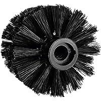 koziol MIAOU, SENSE & RIO zwarte wc-borstel binnenschroefdraad, thermoplastisch kunststof, 7,7 x 7,7 x 9,3 cm