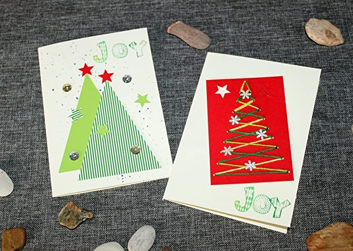 Amazon Com Handmade Christmas Cards Set Of 2 Holiday Cards With