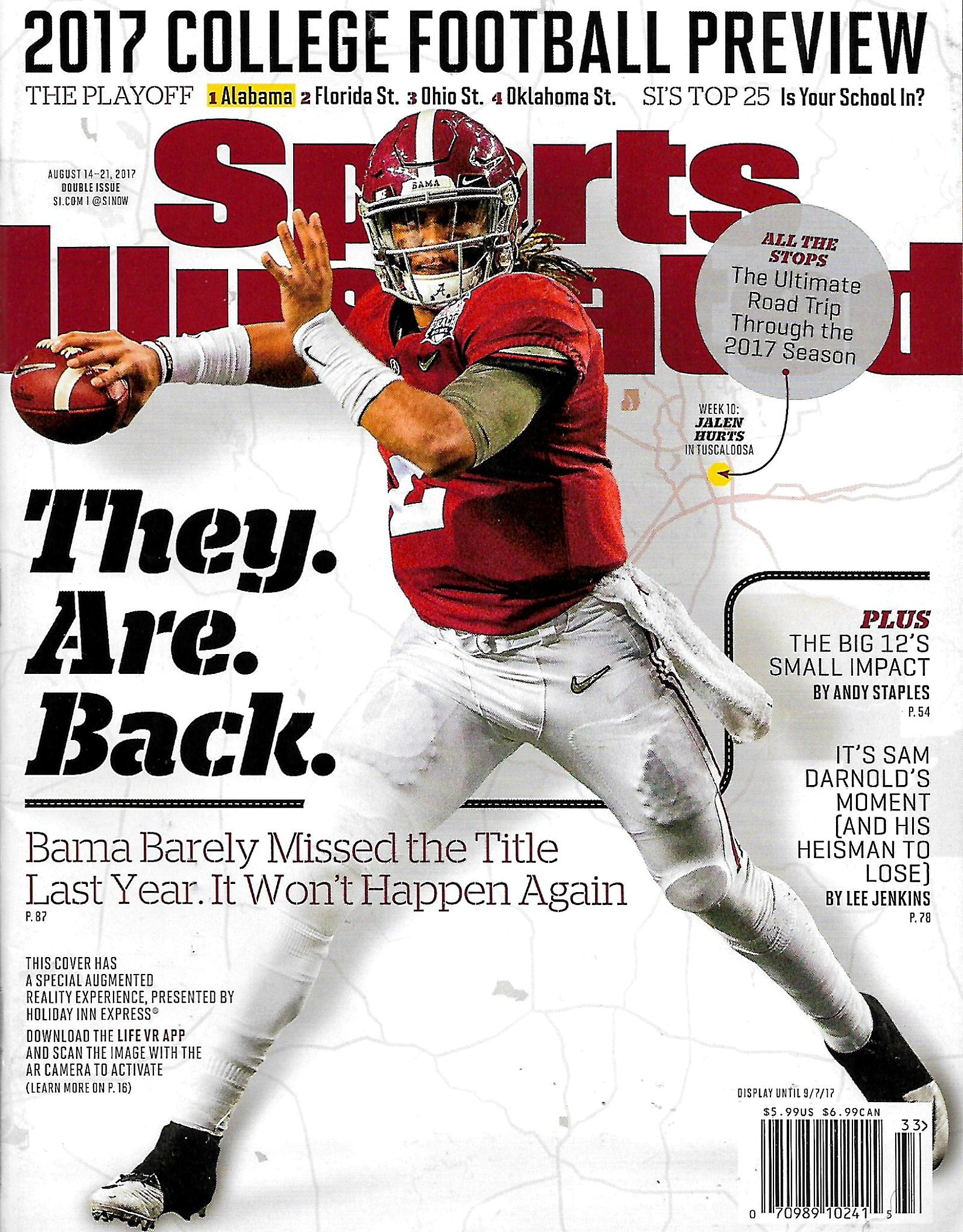 Sports Illustrated August 14 - 21, 2017 JALEN HURTS, College Football Preview ebook