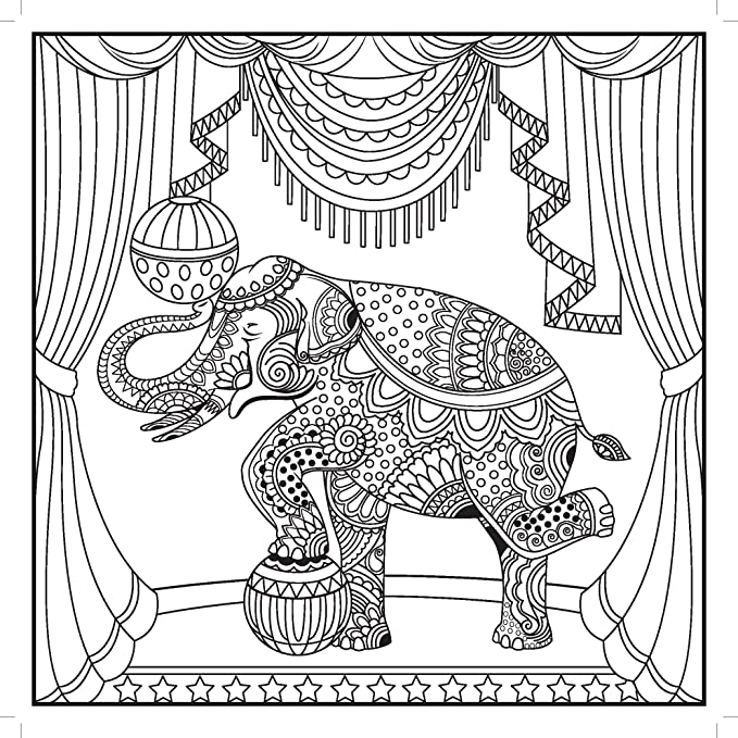 Kaiser Craft The Big Top Colouring Book White Amazoncouk Kitchen Home
