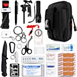 Kitgo Emergency Survival Gear and Medical First Aid Kit - IFAK Outdoor Adventure Camping Hiking Military Essential - Pro…