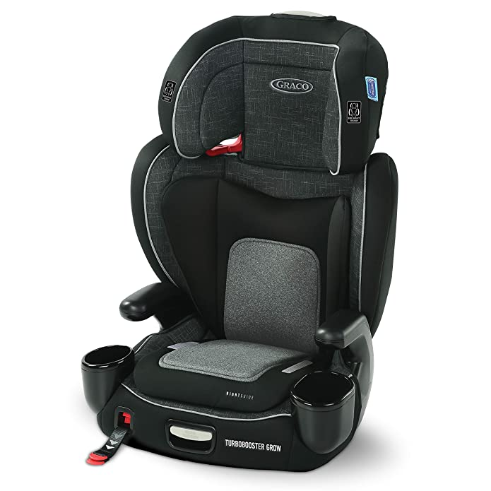 Graco TurboBooster Grow Highback Booster featuring RightGuide Seat Belt Trainer, West Point