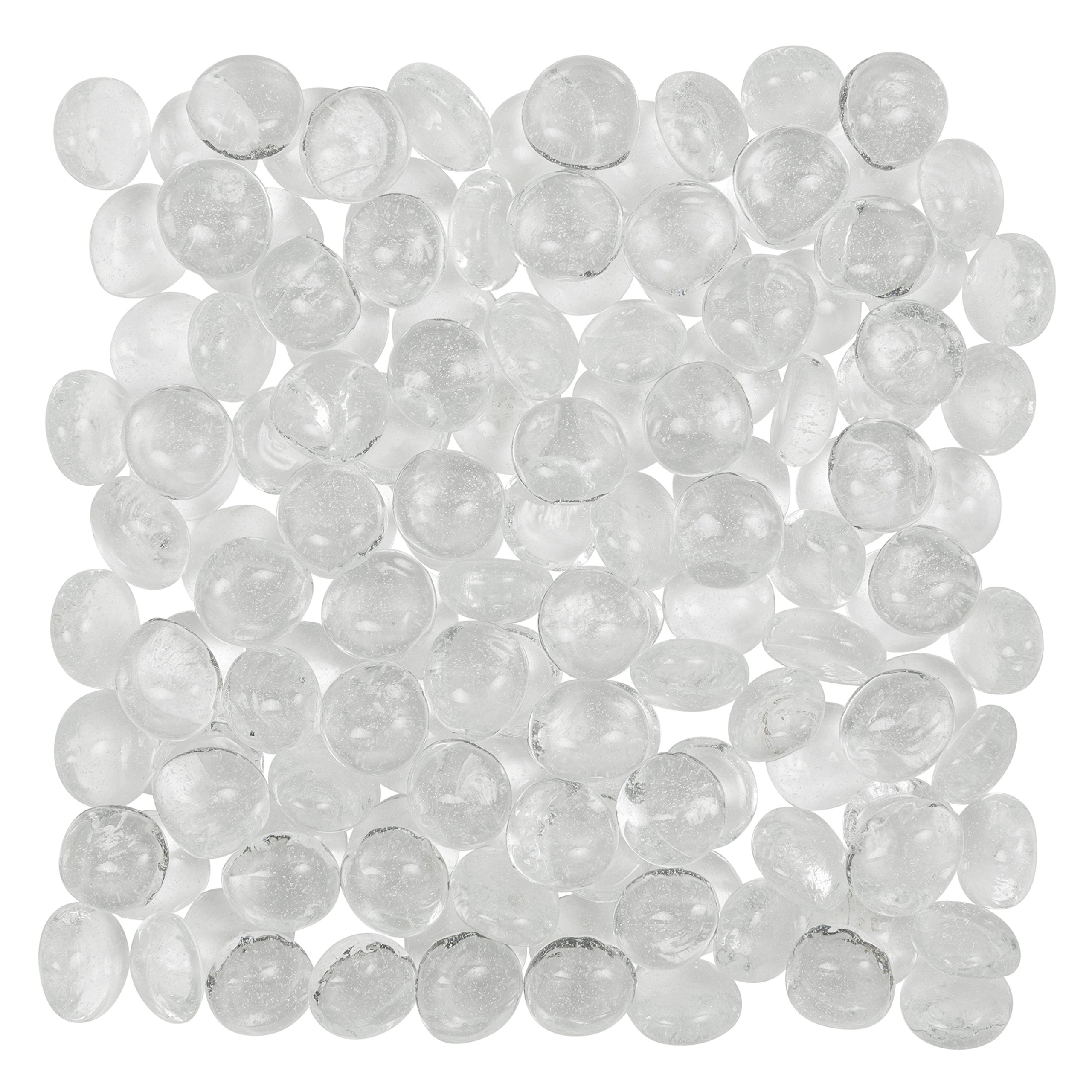 Artisan Supply Clear Glass Gems 1 Lbs. — FILLS 1 1/4 Cups Vol. —Non-Toxic Lead Free Vase Filler, Table Scatter, Aquarium Fillers — Beautiful, Smooth, Fun, Vibrant Colors Crafted in the USA