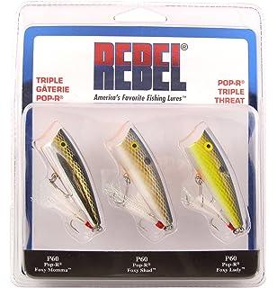 Rebel Magnum Pop-R 1//2 oz Fishing Lure Bone