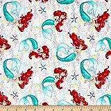 Disney Princess Ariel The Little Mermaid Dream Multi Fabric By The Yard
