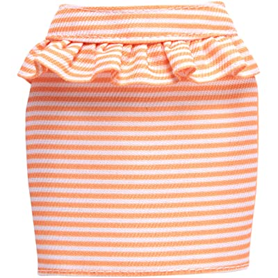 Barbie Peach and White Striped Peplum Skirt Fashion Pack: Toys & Games