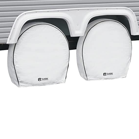 Classic Accessories 80-219-302302-00 4-Pack RV Deluxe Wheel Covers For 19