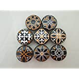 Set of 8 Spanish Mandala Cabinet Knobs (Set 1)