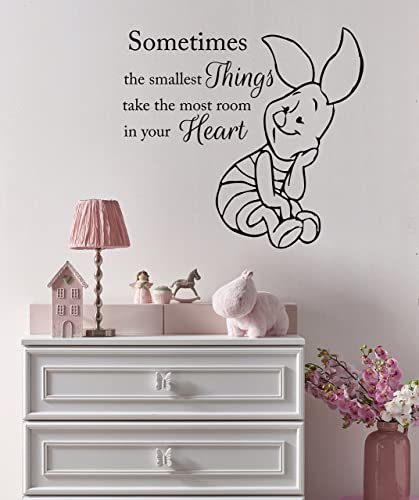 Amazon.com: Winnie The Pooh Wall Decal. Piglet Nursery Decor. Quote ...
