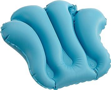 Dr. Winkler 433 - Cojín hinchable para bañera con 4 ventosas, color azul