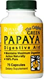 Royal Tropics The Original Green Papaya Digestive Aid Capsules, 75 Count