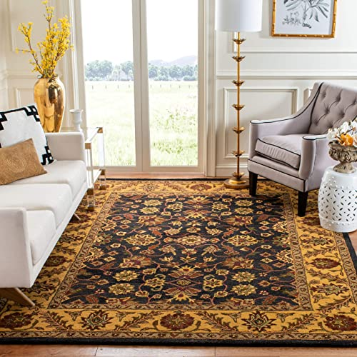 Safavieh Golden Jaipur Collection GJ250D Handmade Black and Gold Premium Wool Area Rug 6 x 9