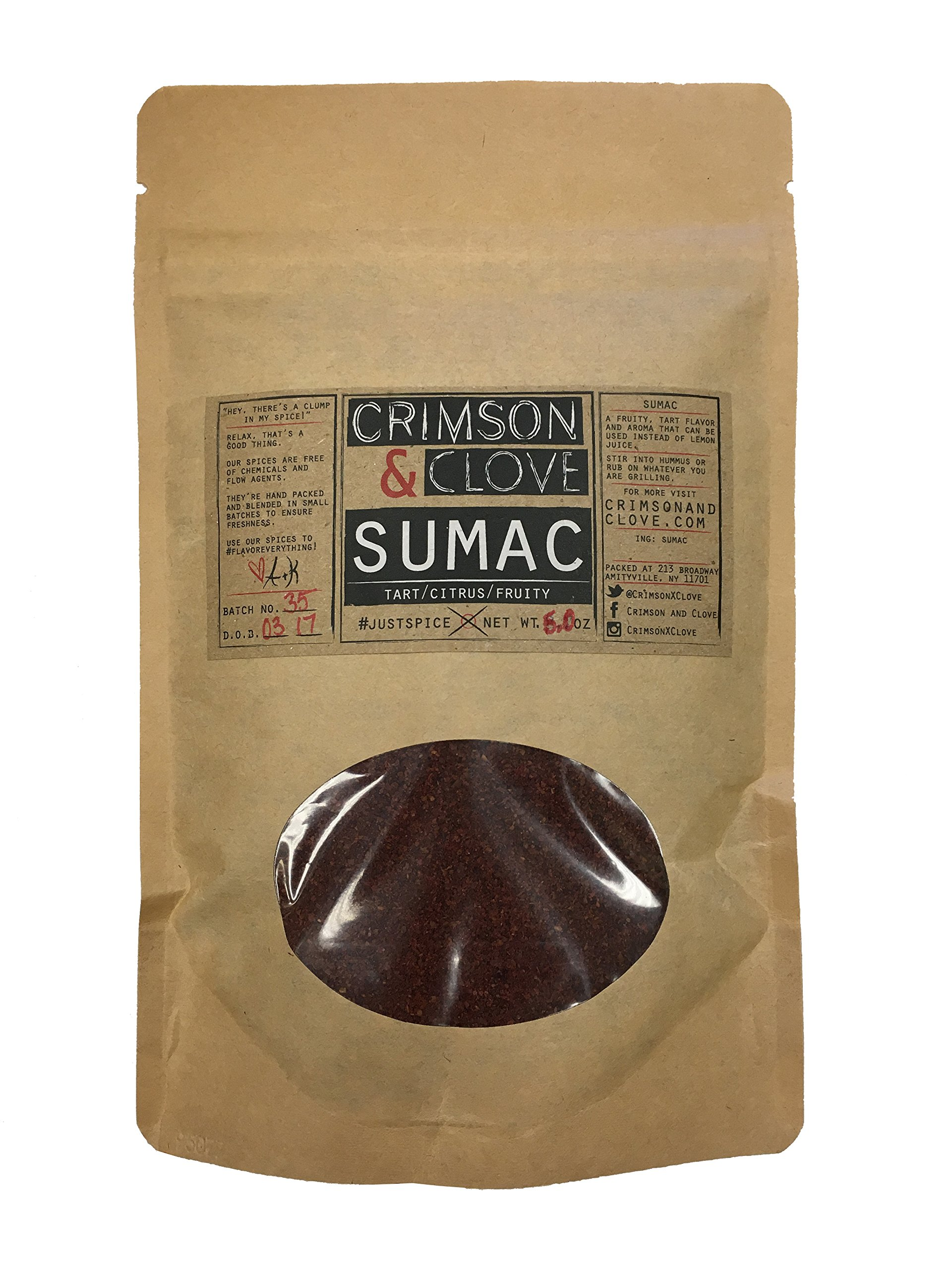 Ground Sumac Berries by Crimson and Clove (5 oz.) - Vegan - Paleo - All Natural