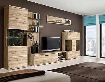 Wohnzimmer Ivory Wohnwand TV-Wand by Wohnorama: Amazon.de: Küche ...