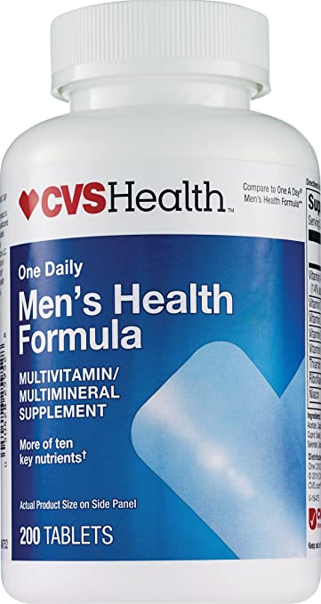 CVS One Daily Mens Health Formula Multivitamin Tablets, 200CT Compare to One A Day Mens