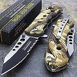 "7.75"" Tac Force Camo Spring Assisted Tactical Folding Knife Blade Pocket Open"""