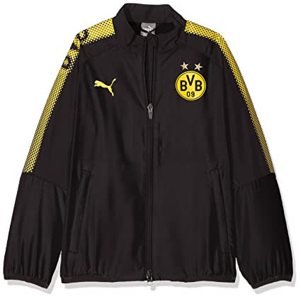 b23cda2ab968 Image Unavailable. Image not available for. Color  PUMA 2017-2018 Borussia  Dortmund Leisure Jacket ...