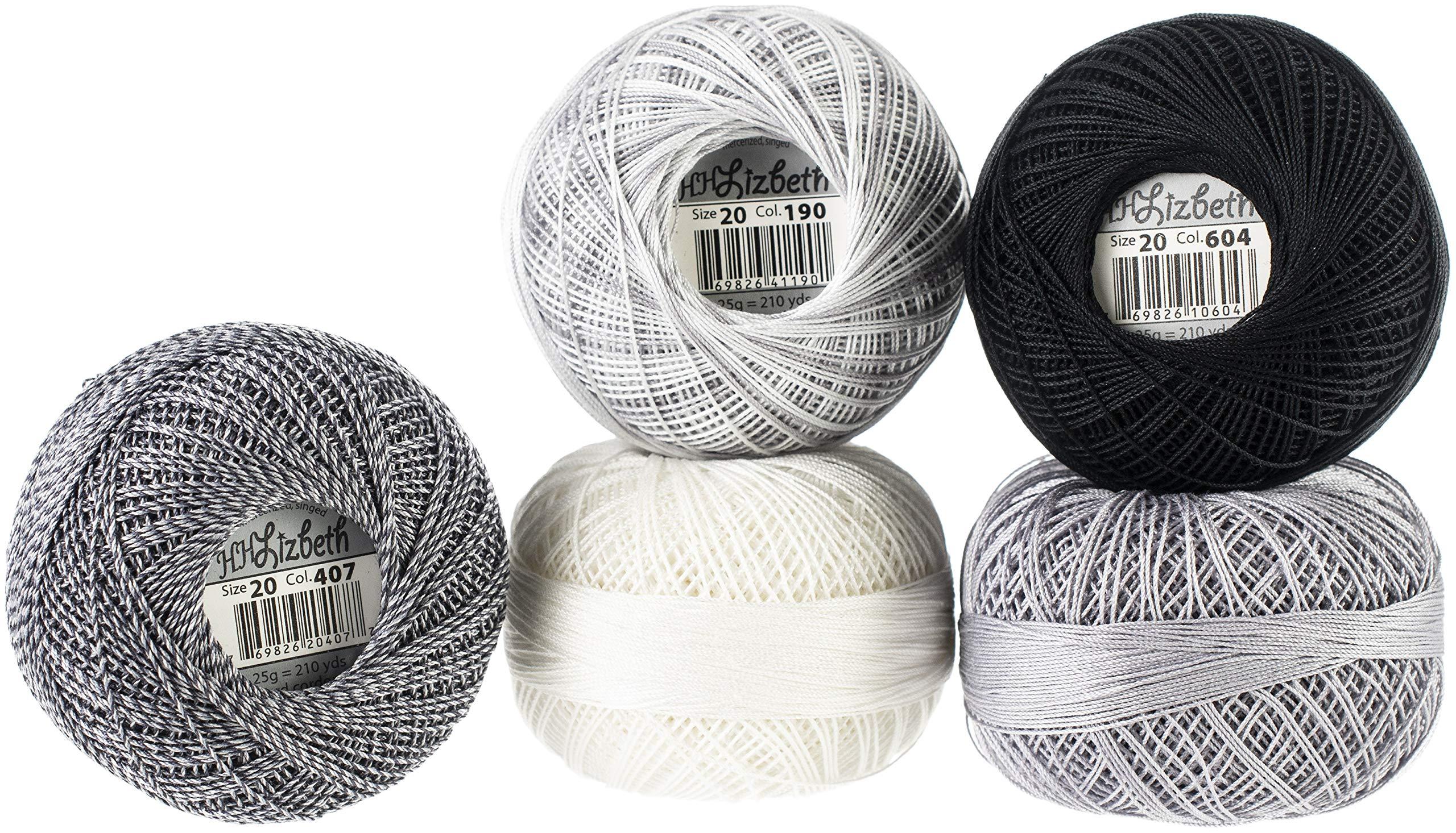 Handy Hands Lizbeth Specialty Pack Cordonnet Cotton Size 20-Silver Clouds 5/Pkg by Handy Hands (Image #1)