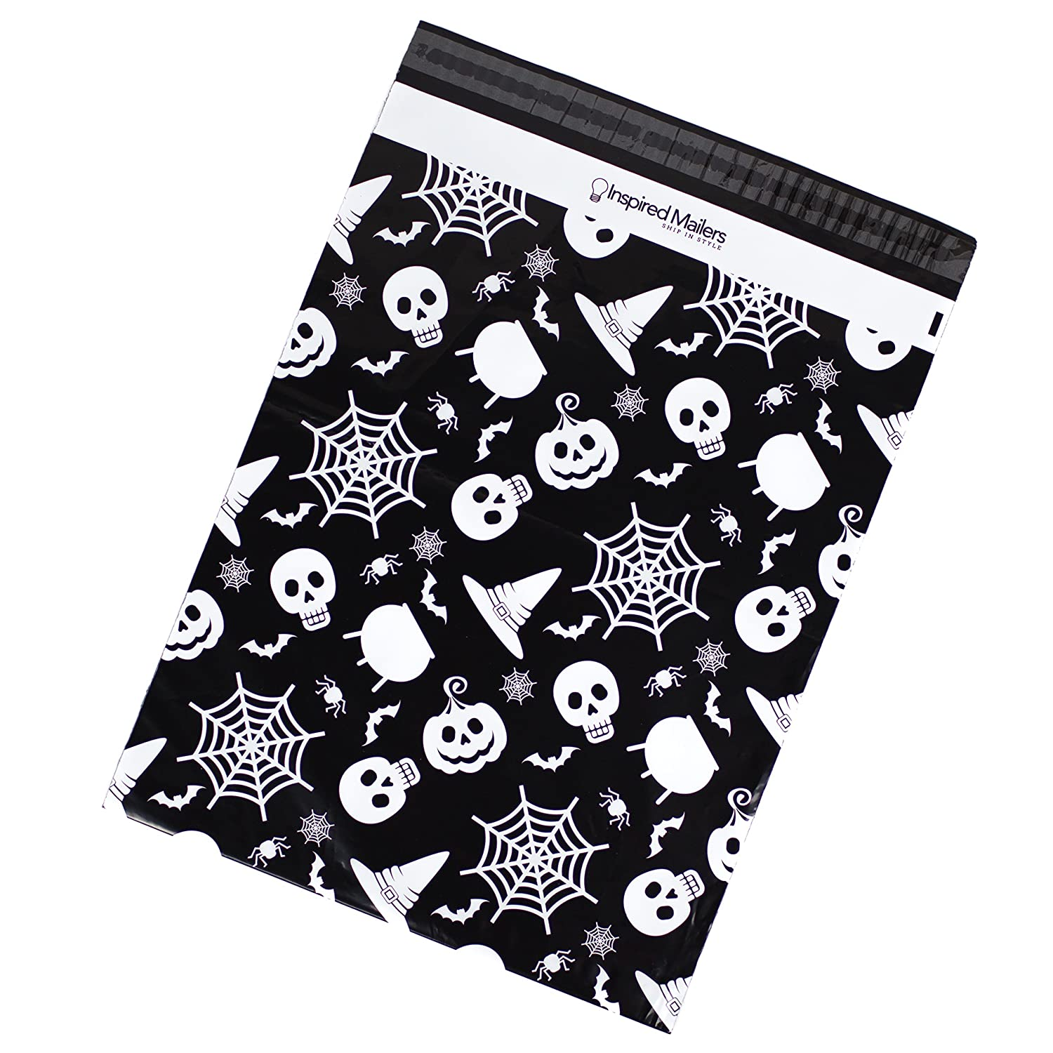 Amazon Inspired Mailers Poly Mailers 14 5x19 Halloween Cobwebs