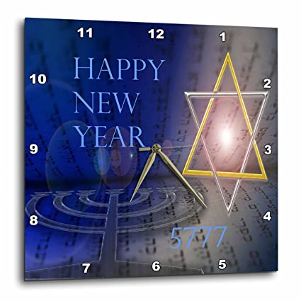 3drose jewish themes image of contemporary jewish new year with shining star 10x10 wall