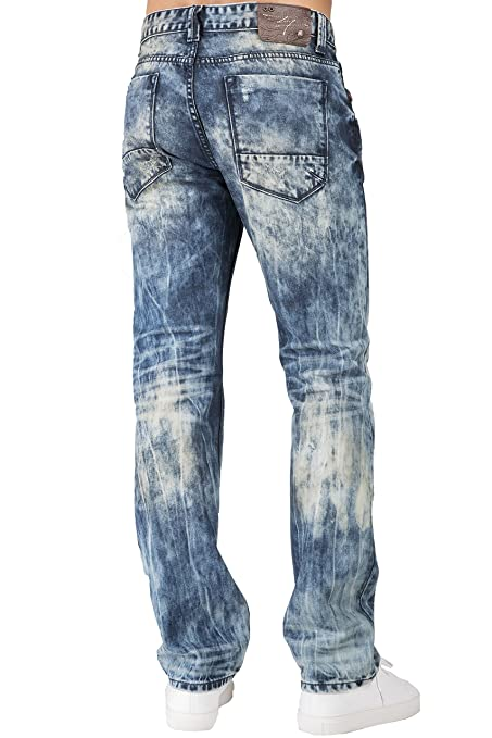 Level 7 Men's Lowrise Spencer Fit Straight Leg Distressed Premium ...