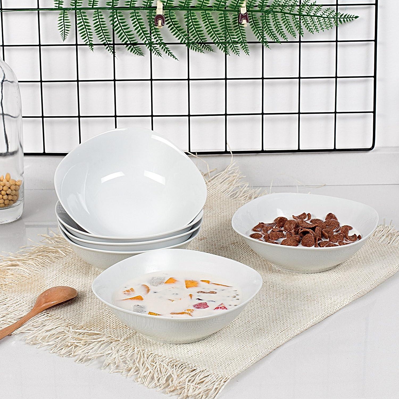 Cuencos de Porcelana Cuencos de Cereales (17 * 17 * 5cm) Cuencos para 6 Personas