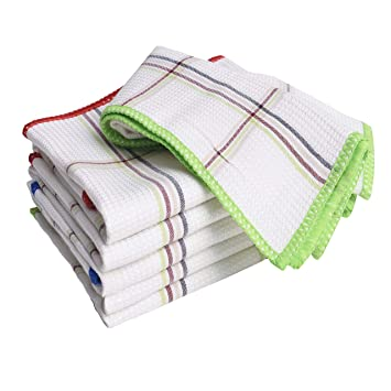 Luckiss Bamboo Dish Cloths Quick Dry Kitchen Rags For Washing Dishes And Dishcloths Sets Absorbent Soft Durable Eco Friendly Cleaning Rags 12 X 12