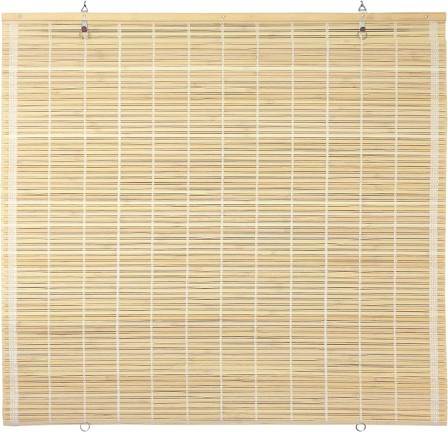 "ORIENTAL Furniture Bamboo Cordless Window Shade - Natural 48"" W"