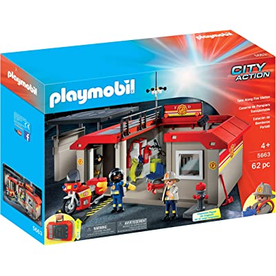 PLAYMOBIL Take Along Fire Station: Toys & Games