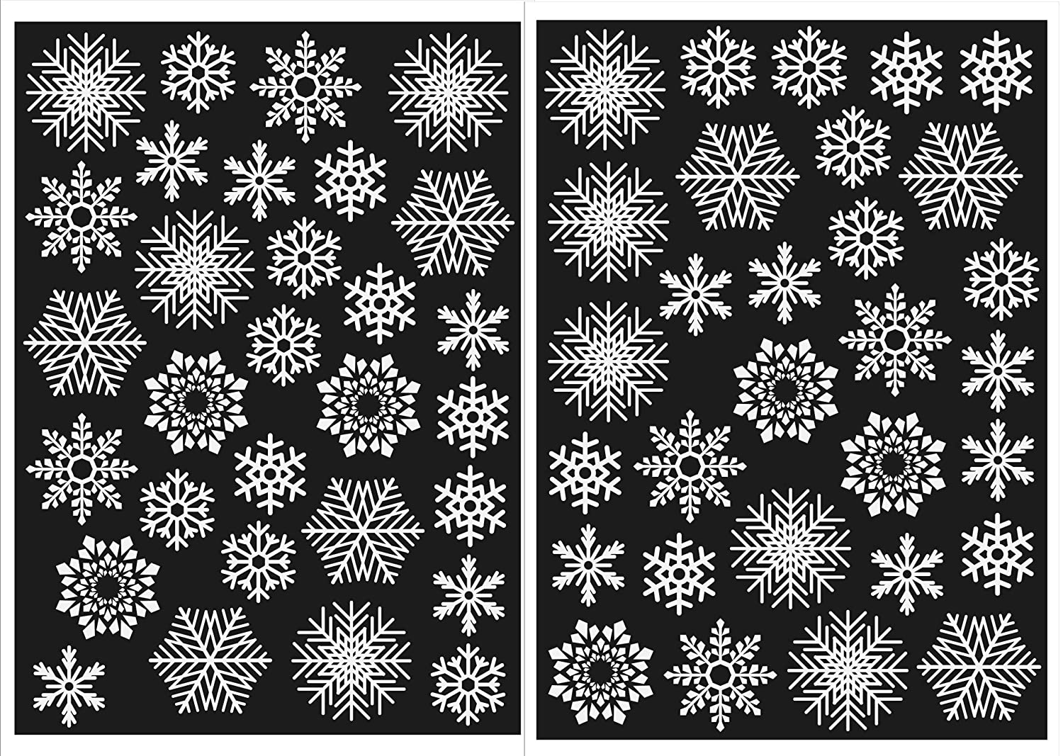 Christmas Window Decorations 60 Snowflakes. Static Cling Stickers. Fast Dispatch and Free Delivery Fargo Trading Ltd
