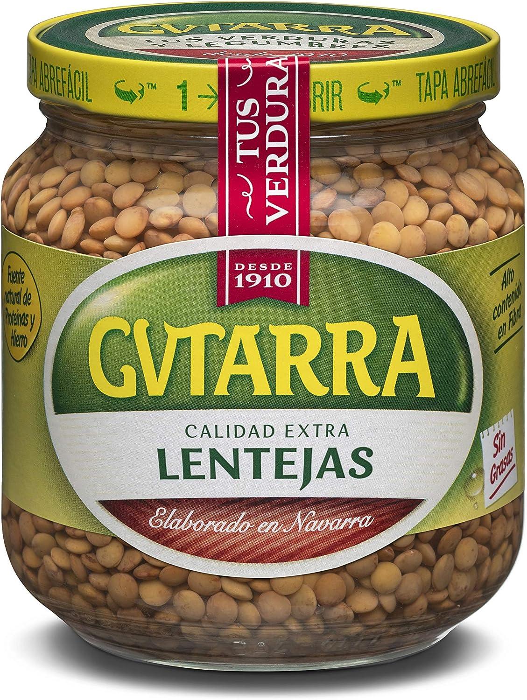 Gvtarra Lentejas Cocidas Legumbre - Paquete de 6 x 400 gr ...